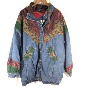 80s VINTAGE TWO TWENTY Long Denim Jacket